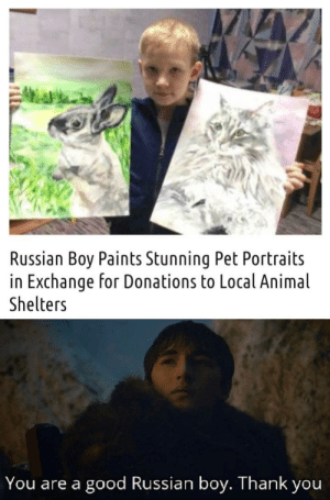 Good boy. Russian boy.: Good boy. Russian boy.
