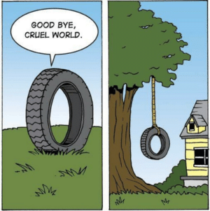 Dank, Life, and Memes: GOOD BYE,  CRUEL WORLD He tyred of life by Mono_420 MORE MEMES