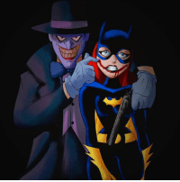 """Batman, Instagram, and Joker: Good Knight Gothamites! Tomorrow we'll continue our current session """"Good Night, Sweet Knight: Remembering Adam West"""" and more Batman media! I leave you tonight with an animated homage to Rafael Albuquerque's Joker variant cover by illustrator Adolfo Rodriguez! To see more of their work, please visit their websites at Tazawa.deviantart.com and Teepublic.com-user-tazawak! 🃏LINKED IN THE BIO🃏you can purchase this and other Batman t-shirts in my merch store for JUST $14 on @Teepublic! As always, thanks for following and all of the constant support on and off of Instagram, it is greatly appreciated! Have a great night and we will have more History of the Batman tomorrow. Remember Gothamites, it's all about Peace, Love and Batman! ✌🏼💜🦇🎨"""