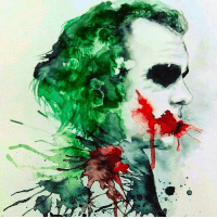 """Good Knight Gothamites! Tomorrow we'll continue our current session """"Good Night, Sweet Knight: Remembering Adam West""""! I leave you tonight with this Heath Ledger's Joker watercolor by illustrator Vanessa Garcia! As always, thanks for following here on Instagram, Twitter (HistoftheBatman), Tumblr, Facebook and subscribing on YouTube and to my podcast on iTunes, it is greatly appreciated! Have a great night and we will have more History of the Batman tomorrow. Remember Gothamites, it's all about Peace, Love and Batman! ✌🏼💜💚🃏🎨: Good Knight Gothamites! Tomorrow we'll continue our current session """"Good Night, Sweet Knight: Remembering Adam West""""! I leave you tonight with this Heath Ledger's Joker watercolor by illustrator Vanessa Garcia! As always, thanks for following here on Instagram, Twitter (HistoftheBatman), Tumblr, Facebook and subscribing on YouTube and to my podcast on iTunes, it is greatly appreciated! Have a great night and we will have more History of the Batman tomorrow. Remember Gothamites, it's all about Peace, Love and Batman! ✌🏼💜💚🃏🎨"""