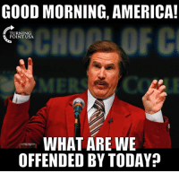 #BigGovSucks: GOOD MORNING, AMERICA!  TURNING  POINT USA.  MER  WHAT ARE WE  OFFENDED BY TODAY #BigGovSucks