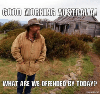 offended: GOOD MORNING AUSTRALIA!  WHAT ARE WE OFFENDED BY TODAYp  mematic net