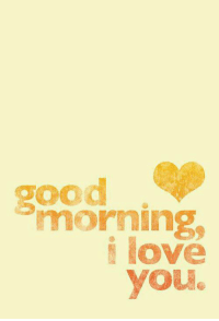 Love: good  morning  love  you