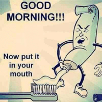 GOOD  MORNING!!!  Now put it  in your  mouth
