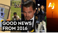 Let's face it, 2016 kind of sucked.  But it wasn't all bad.: GOOD NEWS  FROM 2016 Let's face it, 2016 kind of sucked.  But it wasn't all bad.