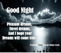 Please share  <3: Good Night  Pleasant dreams,  Sweet dreams,  And hope Jour  Dreams will come true.  Positivity, Love  d all things Good. Please share  <3