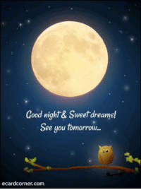 sweet dreams: Good night & Sweet dreams!  See you tomorrow...  ecard corner.com