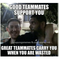 Baynes' face is priceless. Love that our boys had the chance to blow off some steam. GoSpursGo RaceForSeis SpursNation Spurs NBAPlayoffs RatasAssemble: GOOD TEAMMATES  SUPPORT YOU  @gospursgomemes fb.com/gsgmemes  GREAT TEAMMATES CARRY YOU  WHEN YOU ARE WASTED Baynes' face is priceless. Love that our boys had the chance to blow off some steam. GoSpursGo RaceForSeis SpursNation Spurs NBAPlayoffs RatasAssemble