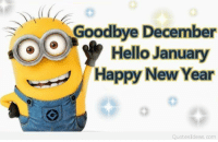 New Year Quotes: Goodbye December  Hello January  Happy New Year  Quotes Ideas, com