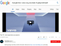 A Hotline Bling: Goodle  if you give me a hotline bling as a result, im going to kil myself  All Images Videos Shopping Maps More  Settings Tools  vevO  Top 10 meme sequels that no one asked for  2,156,853 views  23K 2.9KSHARE..  WatchMojo.com  Published on Dec 20, 2015  mojo  SUBSCRIBE 17M  Nothing stings more than a knife in the back. Welcome to http://www.WatchMojo.com, and today