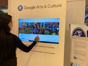 Museo at the Mall! For the next two weekends, you can explore artwork from four incredible 🇵🇷 museums at the @pr_teerico kiosk en Plaza Las Americas, part of our partnership w @googlearts. https://t.co/b6LGhomml7: Google Arts & Culture  е !  Sign in  Profile  Nearby  Explore  Cuh Pertom  Home  C tundouture.googe.com/partneintbuto-de-cutura-putrtoenquena  Google Arts & Culture  EST 2016  TR  Puerto Rican Arts & Culture  isom ber erson-to ae-emo eone of  Ge e de Corporse  eer  Calle Lcla Sy  Calle Norzacura  Calla  709 AM  Dpe here to seards  11/29/2019  nioew wons  tooecme e  raw  seev  Explore  in the details than ever before  hone  n  ana  as obras en detalle como nunca antes  w a  con la  иа.  Google Arts & Culture  Get the app  for edroid andOS on Museo at the Mall! For the next two weekends, you can explore artwork from four incredible 🇵🇷 museums at the @pr_teerico kiosk en Plaza Las Americas, part of our partnership w @googlearts. https://t.co/b6LGhomml7