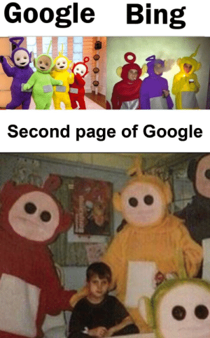 Google, Memes, and Bing: Google Bing  Second page of Google It scares me via /r/memes https://ift.tt/33eidz4
