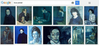 Not quite what I was expecting: Google blue period Not quite what I was expecting