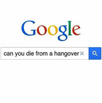 Funny, Google, and Hangover: Google  can you die from a hangover  x a Morning Vibe