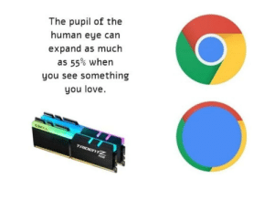 Google chrome looks like an eye: Google chrome looks like an eye