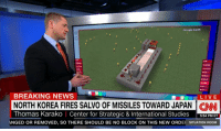 Google, News, and North Korea: Google Earth  0  PARADE  MAP  MAP  BREAKING NEWS  ELIVE  NORTH KOREA FIRES SALVO OF MISSILES TOWARD JAPAN CNI  Thomas Karako | Center for Strategic & International Studies S54 PM ET  ANGED OR REMOVED, SO THERE SHOULD BE NO BLOCK ON THIS NEW ORDEI SITUATION ROOM <p>when will the madness end</p>