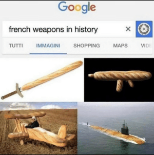 Historically accurate french weapons: Google  french weapons in history  х  VIDE  TUTTI  SHOPPING  MAPS  IMMAGINI Historically accurate french weapons