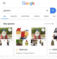 Google Gnome ALL IMAGES SHOPPING VIDEOS NEWS MAP See Gnome