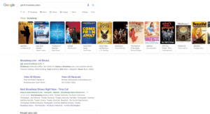Beautiful, Disney, and Frozen: Google  good broadway plays  Images  a All  shopping  News  Videos  Settings  Tools  More  Plays/broadway  ain't  too  Beautiful  COME FRSM AWAY  OE HRET OITIONS  MILTON  Oklahoma  HARRY  CHE  POITER  CURSED CHILD  PHANTOM  OF THE  OPERA  The Carole King Musical  proud  COME  FR M  AWAY  DEAR  EVAN  HANSEN  LEROUX  FROZEN  WAITRESS  TH  J.K. ROWLING  THE TEMPTATIONS  Hamilton  The Book of  Wicked  Come from  Hadestown  The Phantom  Waitress  Ain't Too  Oklahoma!  Beautiful  Dear Evan  Harry Potter  and the Curs..  Oscar Hamm..  of the Opera  Richard Stilgoe  Lin-Manuel M..  Hansen  Mormon  Winnie Hol..  Anais Mitchell  Sara Bareilles  Proud - The L...  Douglas McG..  Away  David Hein  J. K. Rowling  Steven Leven...  Dominique M..  Matt Stone  Broadway.com - All Shows  Ad www.broadway.com/  Broadway's Online Box Office. Get Tickets For Shows at Broadway.com. Live Customer Service.  Premium Seating. Online ticketing. Great Selection. Best Seats. Categories: Shows, Buzz, Videos  View All Shows  View All Musicals  Find Out What's Playing on  Browse All Musicals on Broadway.com  Get Tickets Today  Broadway Now. Buy Tickets.  Best Broadway Shows Right Now - Time Out  https://www.timeout.com > newyork theater broadways-best-shows-bro...  Jul 29, 2019 - Best Broadway shows in NYC. Theater, Musicals. The Book of Mormon.  Photograph: Joan Marcus. Theater, Musicals. Theater, Musicals. Hamilton. Photograph: Courtesy  Matthew Murphy. Theater, Drama. Theater, Musicals. Beautiful-The Carole King Musical.  Photograph: Matthew Murphy. Photograph: Courtesy Matthew Murphy. Theater, ...  Broadway shows The Ferryman The Book of Mormon To Kill a Mockingbird  People also ask Yes I love the classic disney film, the Book of Mormon