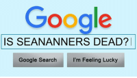 Memes, Google Search, and 🤖: Google  IS SEANANNERS DEAD?  I'm Feeling Lucky  Google Search Ok Google, post to Facebook. http://bit.ly/2kHiMOJ