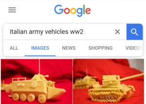 Google, News, and Shopping: Google  italian army vehicles ww2  X  IMAGES  NEWS  SHOPPING  ALL  VIDEOS  RFOR And people say the germans had the best tanks