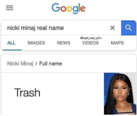 Gimme KARMA via /r/memes https://ift.tt/2N8afCZ: Google  nicki minaj real name  @trash man john  ALL IMAGES NEWS VIDEOS MAPS  Nicki Minaj / Full name  Trash Gimme KARMA via /r/memes https://ift.tt/2N8afCZ