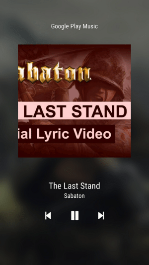 This needs to be played the day of the Area 51 raid.: Google Play Music  h  naton  LAST STAND  ial Lyric Video  The Last Stand  Sabaton  II This needs to be played the day of the Area 51 raid.
