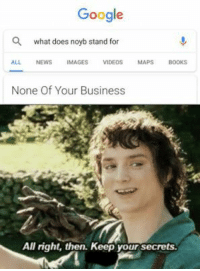 CLICK HERE 4 MORE FUNNY DANK MEMES - Quoratreasury Memes by PrO_RaZe: Google  Q  what does noyb stand for  ALL NEWS IMAGES VIDEOS MAPS BOOKS  None Of Your Business  All right, then. Keep your secrets. CLICK HERE 4 MORE FUNNY DANK MEMES - Quoratreasury Memes by PrO_RaZe