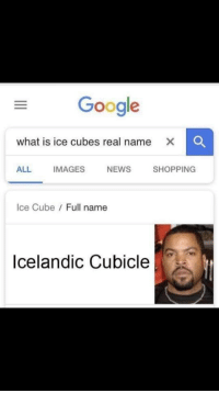 Very versatile, very relatable. Potential profit?: Google  what is ice cubes real name  ALL  IMAGES  NEWS  SHOPPING  Ice Cube Full name  Icelandic Cubicle Very versatile, very relatable. Potential profit?