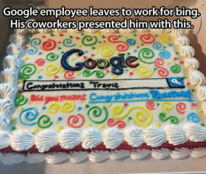 Dis, Traitor, and You: Googleemployee leavessto workforbing  Hiscoworkers oresentedihim withthis  Dis you mazne Traitor
