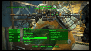 Fire, Run, and Target: Goops, J did itagain.  Does double damage if the target is at full health.  You're carrying too much and can't run  INVENTORY  Damage  150  CURRENT MODS:  5150  Boomtown  Overcharged Capacitor  Plasma  1765  Ctrl alt delete  Daddy Long Dick  Goops, I did it again.  Improved Sniper Barrel  Recoil Compensating Stock  Fire Rate  33  Range  Accuracy  Weight  Value  233  184  Long Recon Scope  Instigating  8.1  Omega  845  PEW Research  A MODIFY  B BACK  (Y RENAME  SCRAP Naming weapons in Fallout gives me a reason to live