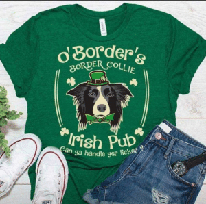 There has to be a better way to photoshop the image on this shirt: gorder's  ER COLLIE  ya handle yer teker There has to be a better way to photoshop the image on this shirt