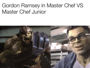 It really do be like that!: Gordon Ramsey in Master Chef VS  Master Chef Junior It really do be like that!