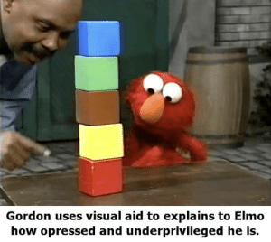 And you're here at the bottom Elmo via /r/memes https://ift.tt/2O7od6M: Gordon uses visual aid to explains to Elmo  how opressed and underprivileged he is. And you're here at the bottom Elmo via /r/memes https://ift.tt/2O7od6M