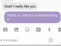 Cute, Dank, and Gif: Gosh I really like you  That's so cute l'm screenshotting  GIF  a message. We were talking about how much better we sleep when we're together