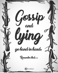 Memes, Lying, and 🤖: Gossip  ying  and  gehandinhands  emembev Double TAP if you agree.. Gossip and Lying go hand in hand Remember that... powerofpositivity