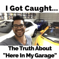 "Memes, 🤖, and Zack &: Got caught...  The Truth About  ""Here In My Garage"" Haha follow my @tailopez if you don't want me to lose my job washing Zack's cars... hereinmygarage @tetrisgod7"