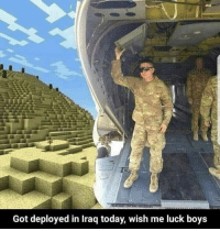 Iraq, Today, and Luck: Got deployed in Iraq today, wish me luck boys First squadron being deployed in Iraq, (2004 HD)