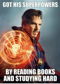 Books, Superhero, and Got: GOT HIS SUPERPOWERS  BY READING BOOKS  AND STUDYING HARD <p>The Studious Superhero</p>