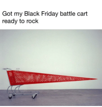 Black Friday, Friday, and Black: Got my Black Friday battle cart  ready to rock Im ready