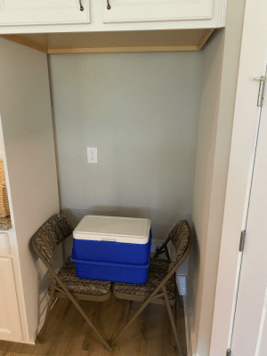 Got the refrigerator installed in my new house.: Got the refrigerator installed in my new house.