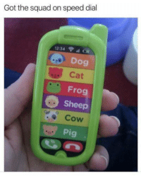 "Memes, Squad, and Http: Got the squad on speed dial  12:34  Dog  Cat  Frog  Sheep  Cow  Pig <p>Dont Mess With Us via /r/memes <a href=""http://ift.tt/2jlx6xa"">http://ift.tt/2jlx6xa</a></p>"