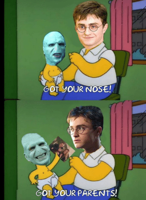 Harry Potter memes are the worst.: Got YOUR NOSE!  6OT YOUR PARENTS! Harry Potter memes are the worst.