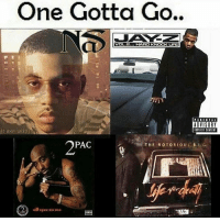 One has to go forever.. which one?! 🤔👀 WSHH: Gotta Go  One VOL.2  HARD KNOCK LIFE  ADVISORY  it was written  PAC  THE NOTORIOUS Ball, G.  22 an One has to go forever.. which one?! 🤔👀 WSHH