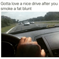 Blunts, Driving, and Love: Gotta love a nice drive after you  smoke a fat blunt 😳😂 https://t.co/a3oODxu6HA