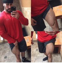 Gotta love leg day...pun intended. Hit quads today I think they're growing 😬 legday gymisbae fitfamep fitfam gymrat squats quads: Gotta love leg day...pun intended. Hit quads today I think they're growing 😬 legday gymisbae fitfamep fitfam gymrat squats quads