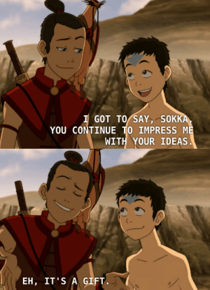 Gotta love the development from Sokka mistrusting Aang to them becoming so brotherly and hilarious!: Gotta love the development from Sokka mistrusting Aang to them becoming so brotherly and hilarious!