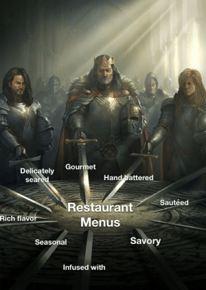 Yeah, Restaurant, and Savory: Gourmet  Delicately  seared  Hand battered  Sautéed  Restaurant  Rich flavor  Menus  Savory  Seasonal  Infused with So yeah that accurate