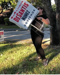Despicable Democrat ripping out Ron DeSantis campaign signs. This is a Crime. Hopefully someone contacts the local law enforcement. @donaldjtrumpjr @realdonaldtrump @rondesantisfl: GOVERN  OR Despicable Democrat ripping out Ron DeSantis campaign signs. This is a Crime. Hopefully someone contacts the local law enforcement. @donaldjtrumpjr @realdonaldtrump @rondesantisfl