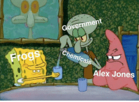 Alex Jones, Government, and MeIRL: Government  Chemicals  Frogs  Alex Jones meirl